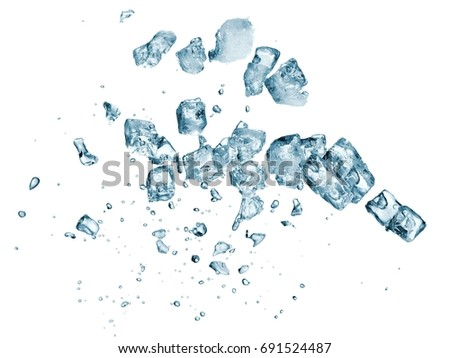 Ice cubes up