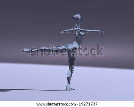 Ice dancer - stock photo