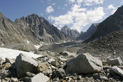 Ice field in the Transbaikalia mountains. Russia