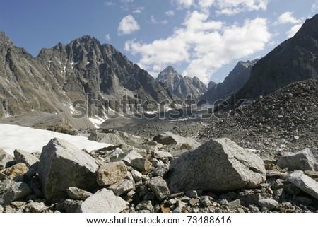 Ice field in the Transbaikalia mountains. Russia #73488616