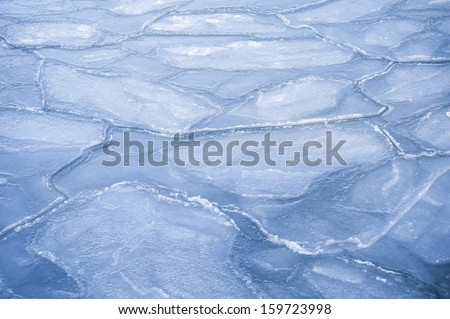 Ice Floes in Kiel, Germany