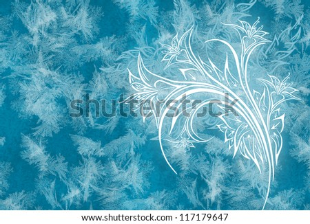 Ice flower background
