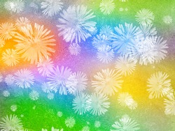 Ice flowers a window, background