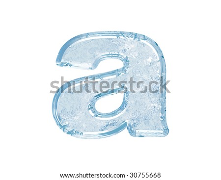 Ice font.Lower case.With clipping path.