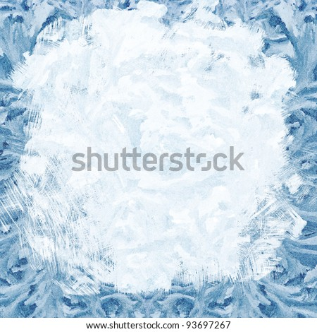 ice frame with aged textured background