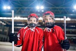 Ice Hockey - portrait youth boys players