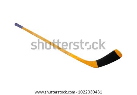 Ice hockey stick isolated on white background