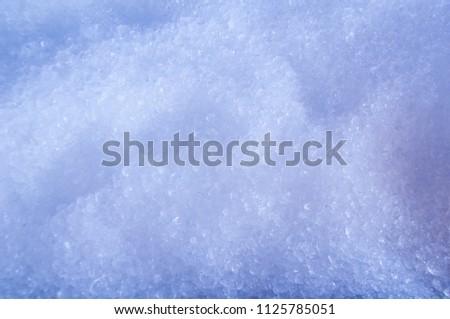 Ice in blue ice bucket, ice background #1125785051