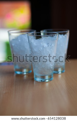 Ice in the glass, cold  #654128038