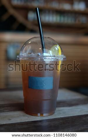 Ice Lemon Tea in Cafe' #1108146080