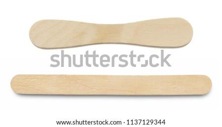 Ice lolly sticks, Ice cream sticks, isolated on white background.
