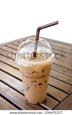 Ice Mocca Coffee on the table