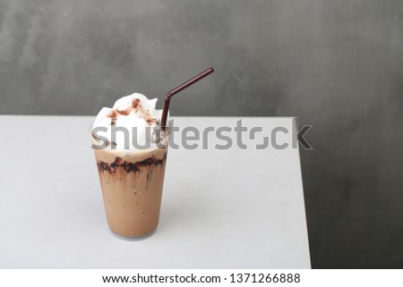 Ice Mocha coffee #1371266888