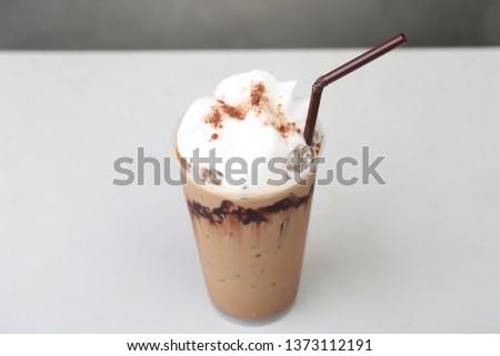 Ice Mocha coffee #1373112191