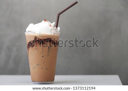 Ice Mocha coffee #1373112194