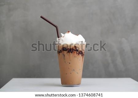 Ice Mocha coffee #1374608741
