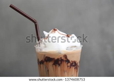 Ice Mocha coffee #1374608753