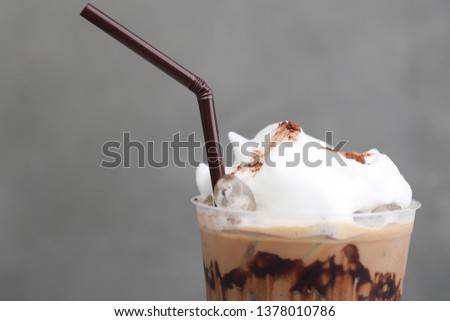 Ice Mocha coffee #1378010786
