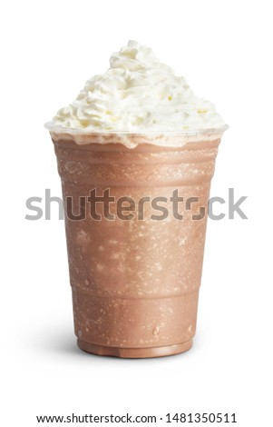 Ice mocha smoothie isolated on white #1481350511