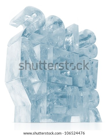 ICE New Year 2013 on white background