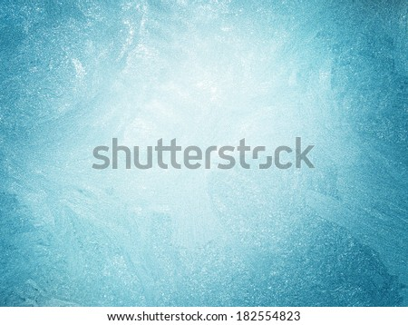 ice on a window  background