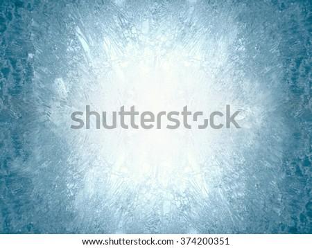 Ice on a window, background Stockfoto ©