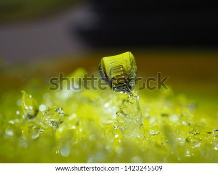 Ice on a yellow background #1423245509