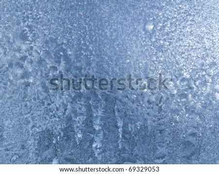 ice on glass texture
