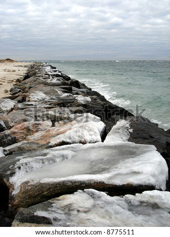 Ice on the jetty #1