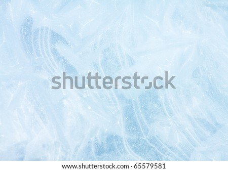 ice pattern background - stock photo