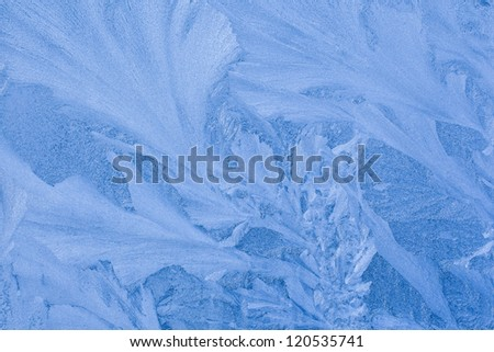 Ice pattern for a background blue