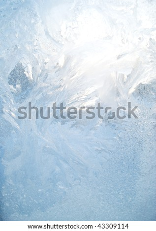 ice patterns on glass