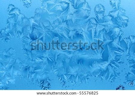 ice patterns on winter glass texture