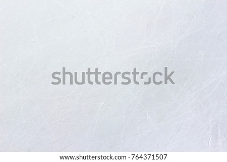 ice rink floor surface background and texture in winter time, ice hockey sport ground