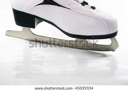 Ice skates on white background