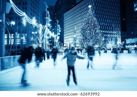 Ice Skating at Christmas (motion blur)
