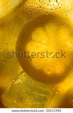 Ice tea lemonade background