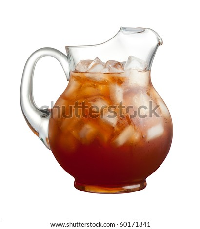 Ice Tea Pitcher isolated on a white background