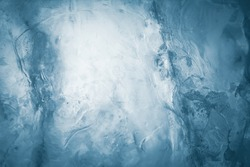 Ice texture background. Textured frosty surface of ice blocks.