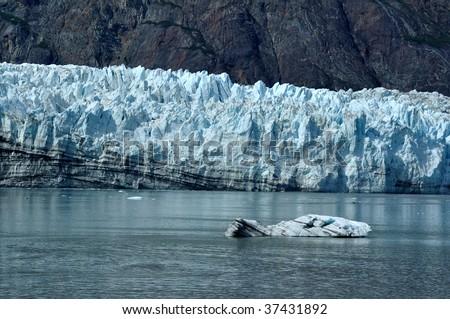 Iceberg and Tidewater Margerie Glacier, Glacier Bay National Park, Alaska