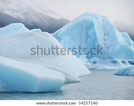 Iceberg floating in the mist - Perito Moreno Glacier El Calafate Argentina