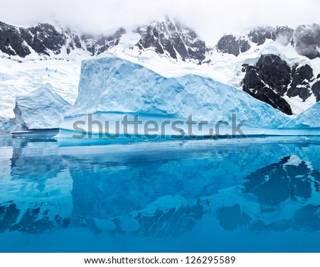 Iceberg in Antarctica, west coast of antarctic peninsula