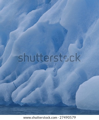 Iceberg in Arctic waters (Napassorsuaq Fjord, Greenland)