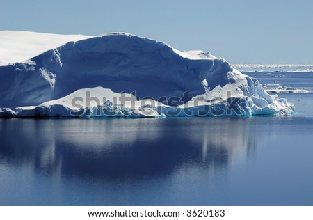 Iceberg in calm waters