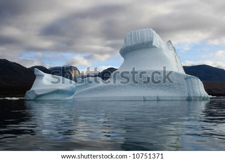 Iceberg in West Greenland - stock photo
