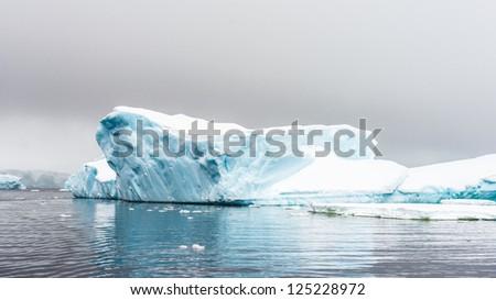 Iceberg of Antarctica, South Pole. South Atlantica Ocean.