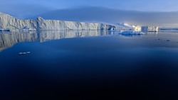 Iceberg on arctic ocean