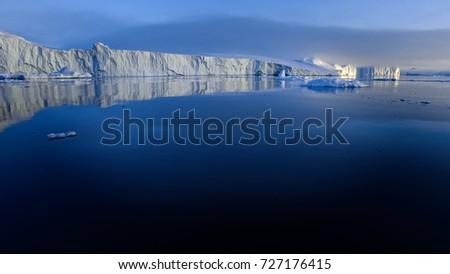 Iceberg on arctic ocean #727176415