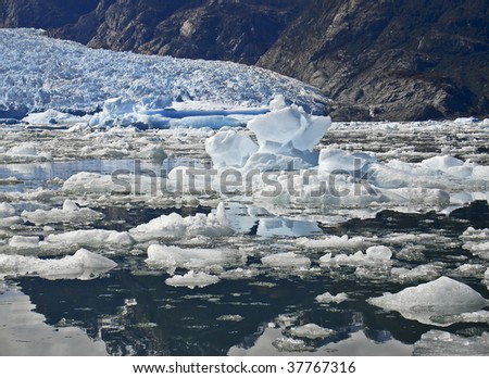 Icebergs from the San Rafael Glacier in Patagonia, Chile