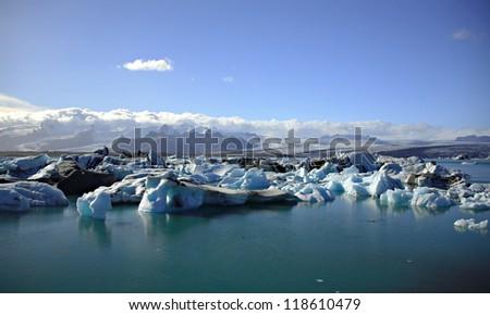 Icebergs, Icebergs, Icebergs on Jokulsarlon lagoon Iceland
